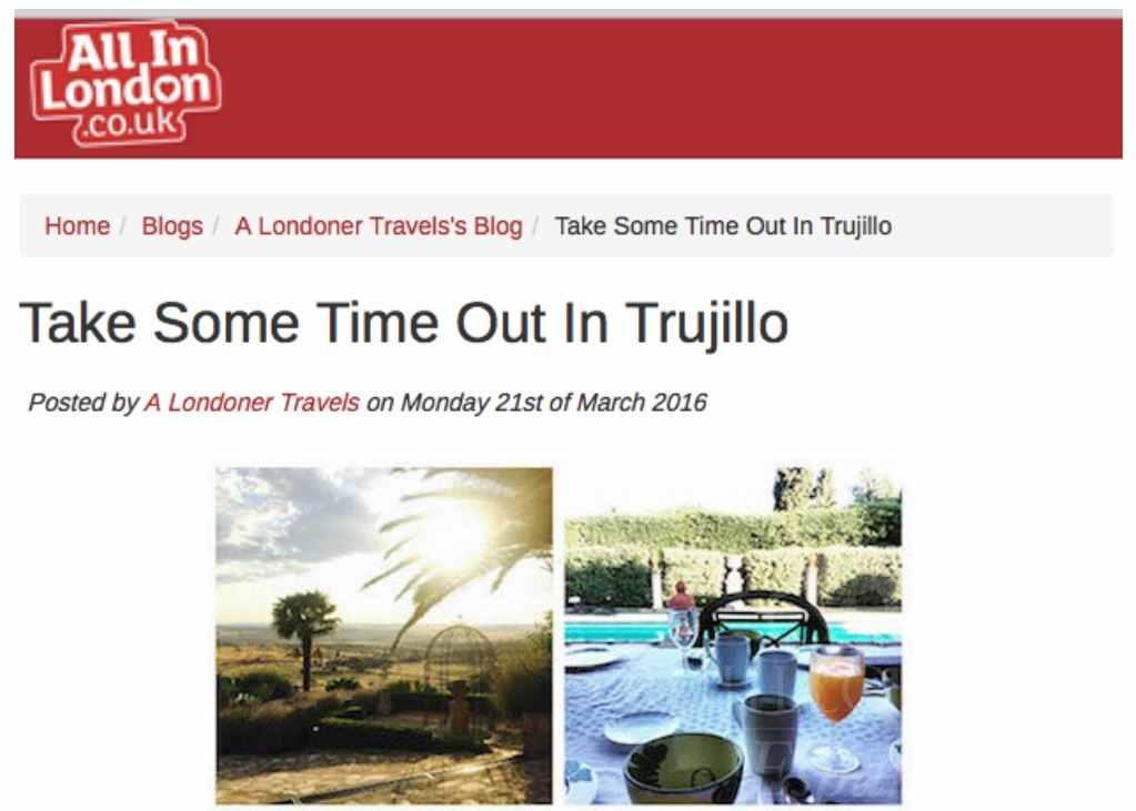 All In London, Trujillo Villas Espana