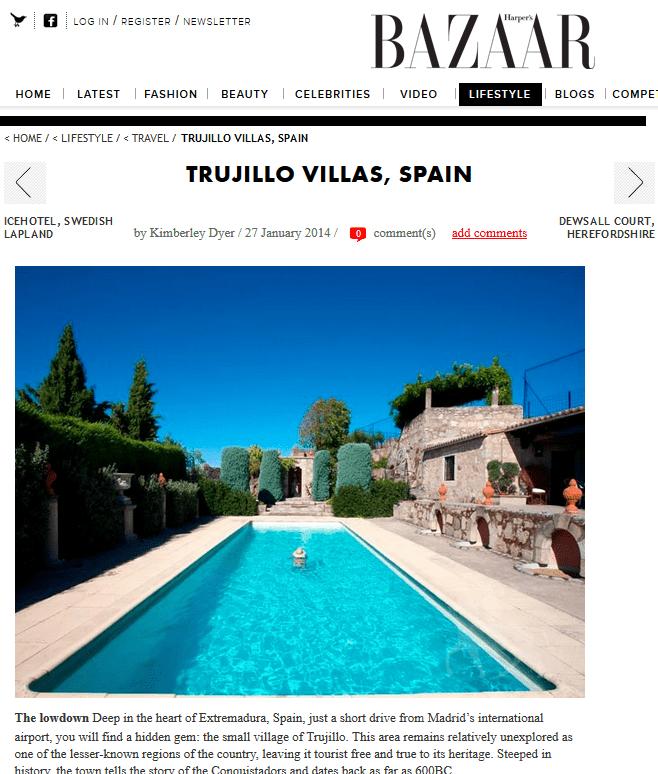Harper's Bazaar, Trujillo Villas