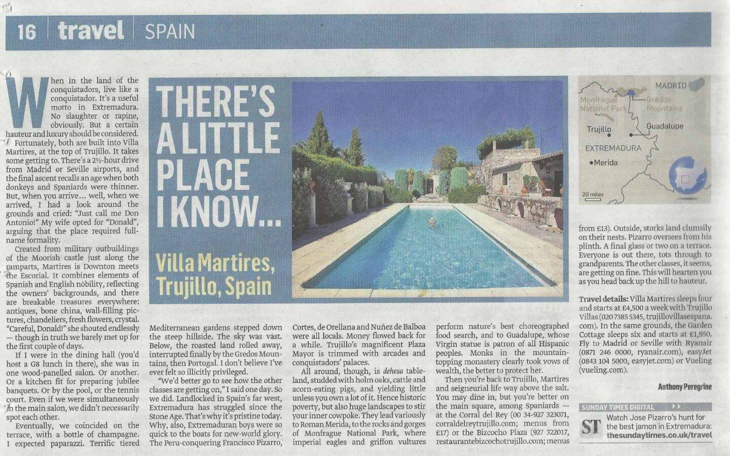 Sunday Times Travel, Villa Martires