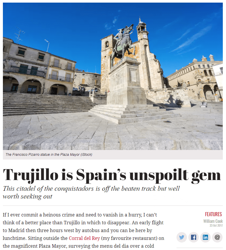 Trujillo Villas Espana Featured in The Spectator