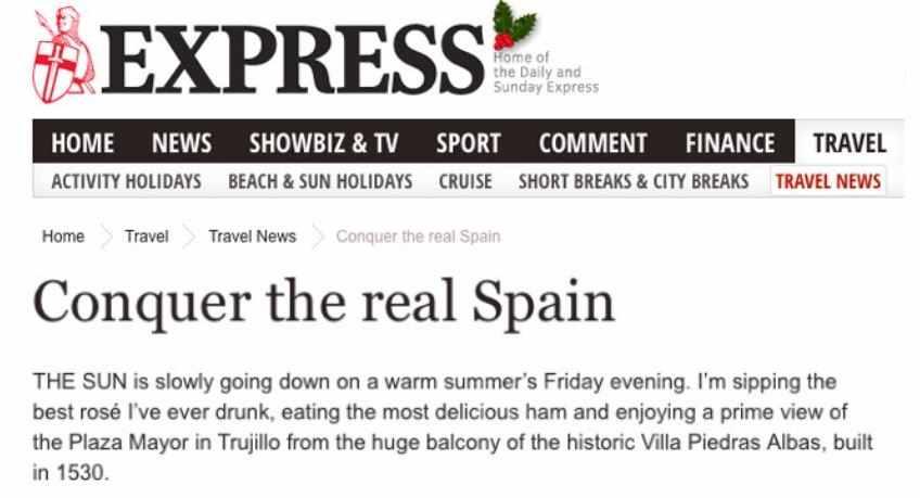 Sunday Express, Trujillo Villas