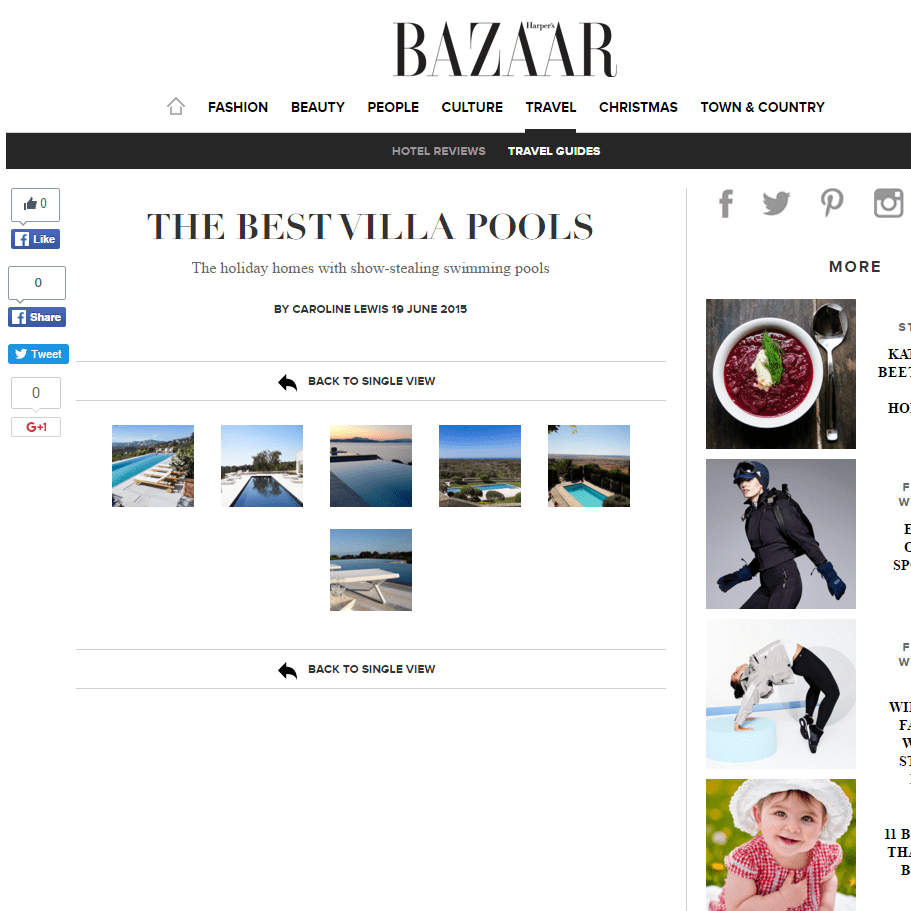 Harpers Bazaar Online – 19th June 2015