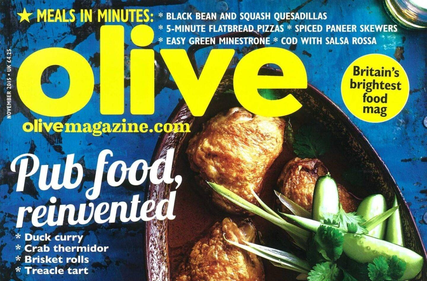 Featured in Olive – October 2015