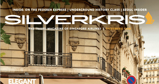 Singapore Airlines Travel Magazine – 3rd April 2013